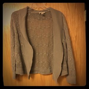Ann Taylor Loft Outlet Taupe cardigan